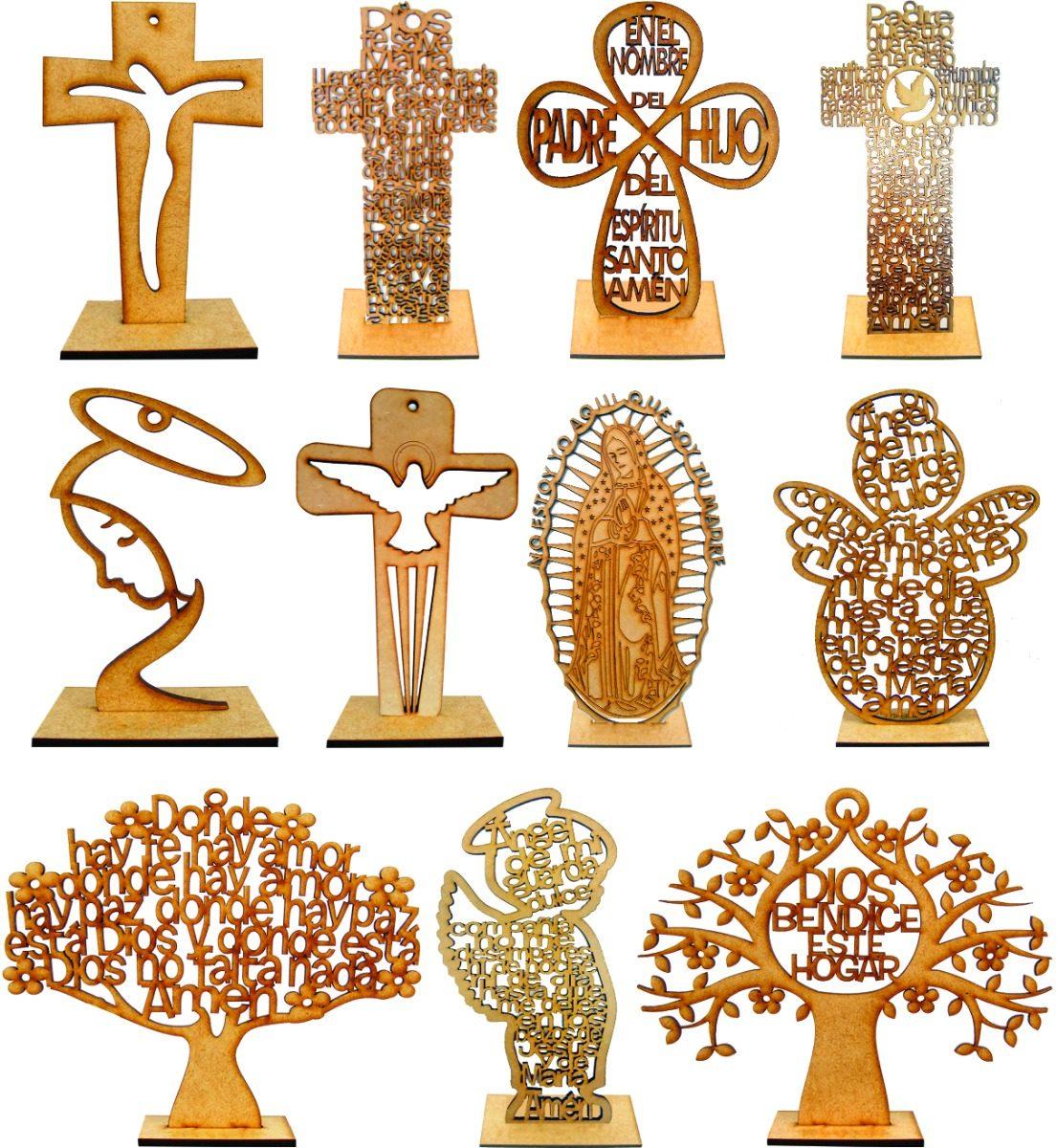 Cruz ngeles rboles personalizados madera mdf 15cm fiesta - Donde conseguir cajas de madera ...