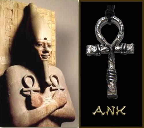 cruz ankh / ansata em prata