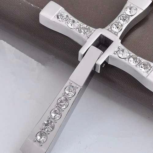 cruz + cadena inspirada en dominic toretto rápido y furioso