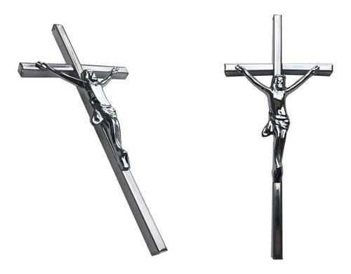 cruz con cristo para cementerio, 30cm. crucifijo para lapida