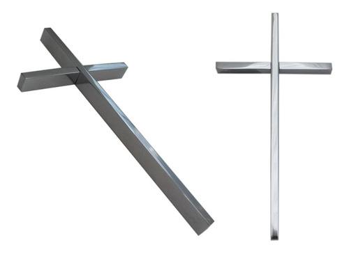 cruz cromada para cementerio, 25cm. crucifijo lapida, nicho.