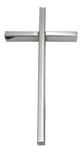 cruz de acero inoxidable para cementerio, 25cm. lapidas.