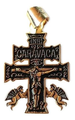 cruz de caravaca en baño de oro 18 kilates contra maleficios