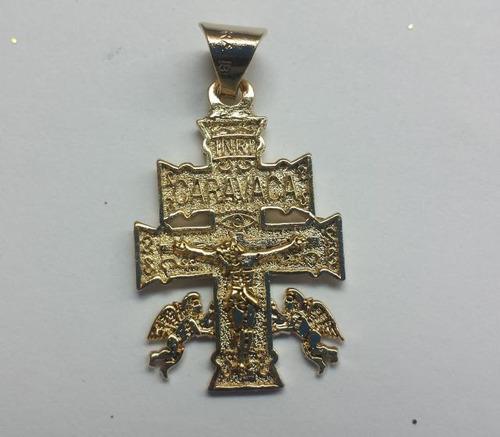 cruz de caravaca,en baño de oro 18 kilates contra maleficios