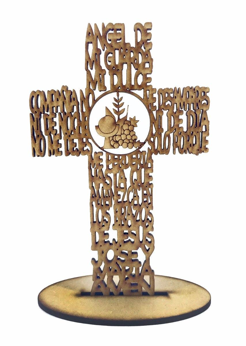 2acf268acff cruz de madera con angel de la guarda para primera comunion. Cargando zoom.