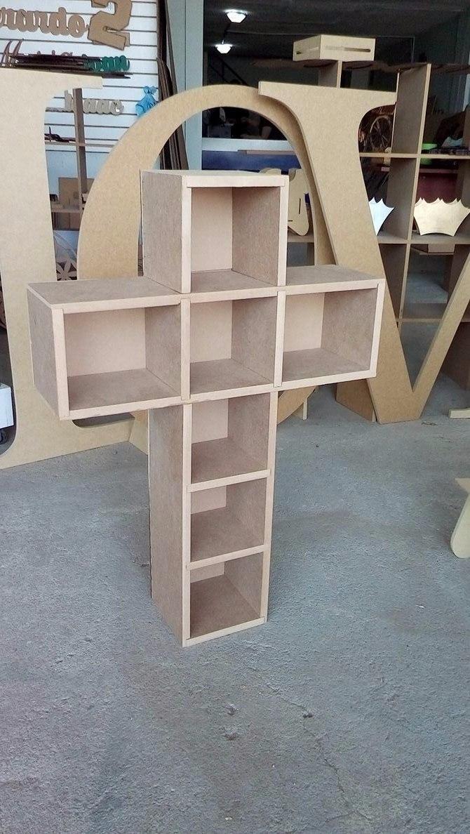Cruz de madera para decoraci n de candy bar bautizo - Madera para decoracion ...
