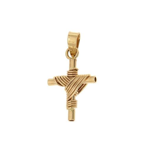 cruz de oro 14k dije crucifijo