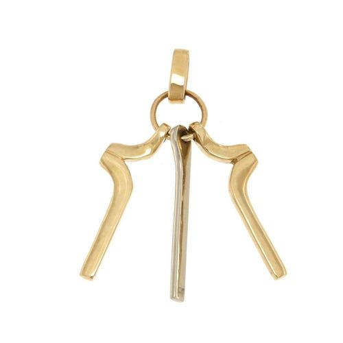 cruz de oro 14k dos oros dije cruz - fourteenkarat