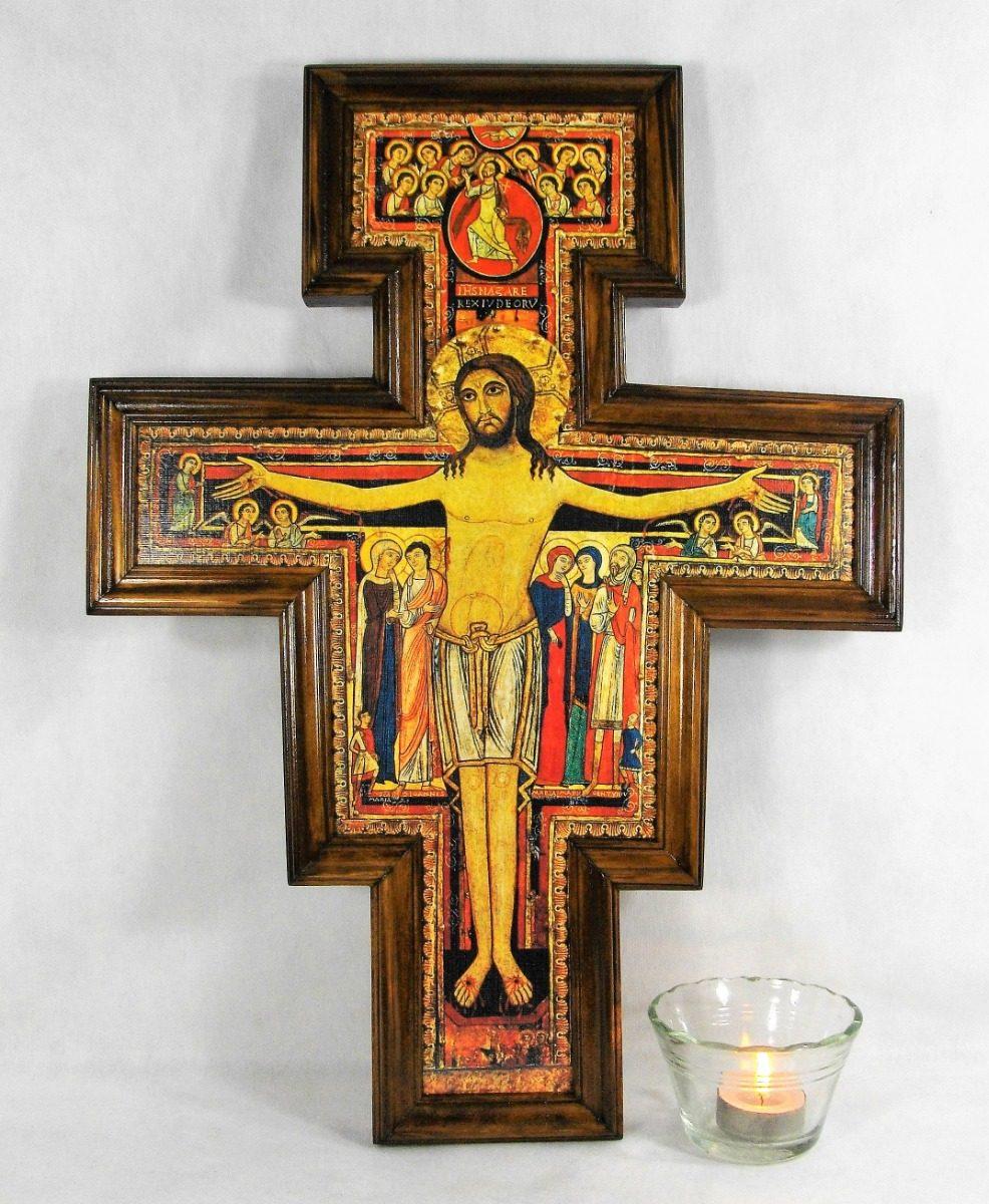 73d9f571edd cruz de san damián cruz franciscana con moldura. Cargando zoom.