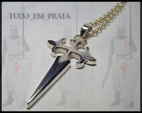 cruz de santiago em prata - somente pingente