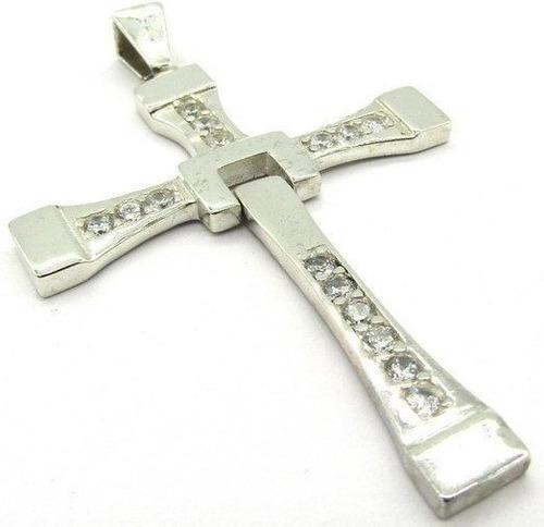 cruz de toretto en plata 950 dije