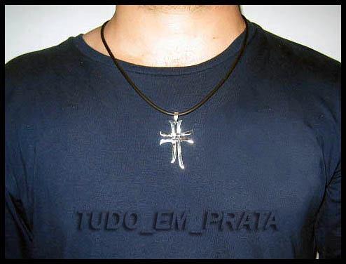 cruz dupla cruzada em prata