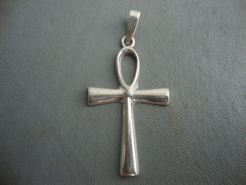 cruz egipcia en fina plata - consagrado para el dueño