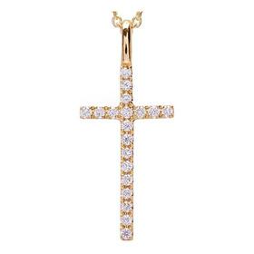 Cruz Everyday Con Diamantes En Oro Amarillo De 18kt (32813)