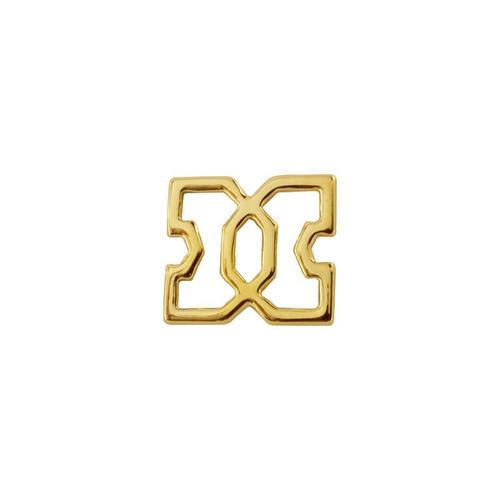 cruz marroquí y cadena ancla chapa de oro 22k
