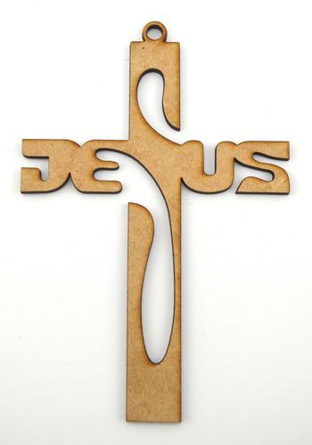 cruz mdf 25cm jesus recuerdo confirmación comunion art23