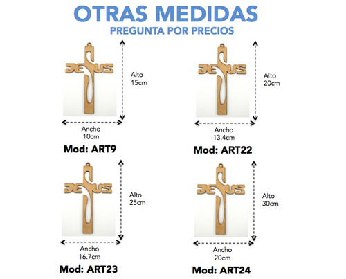 cruz mdf 30cm jesus recuerdo bautizo primera comunion art24