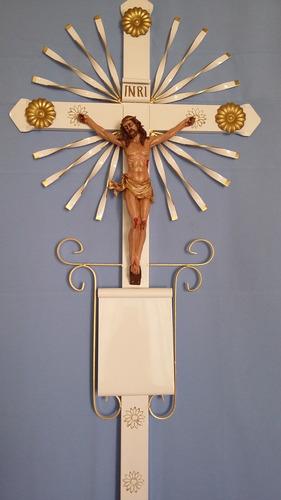 cruz metálica, cruz para panteón 1.50 mts alto