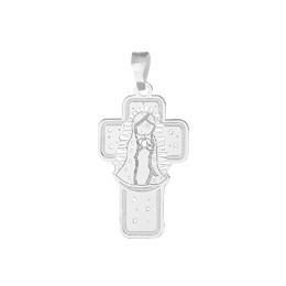 cruz plata ley.0925 virgencita regalo niña dama
