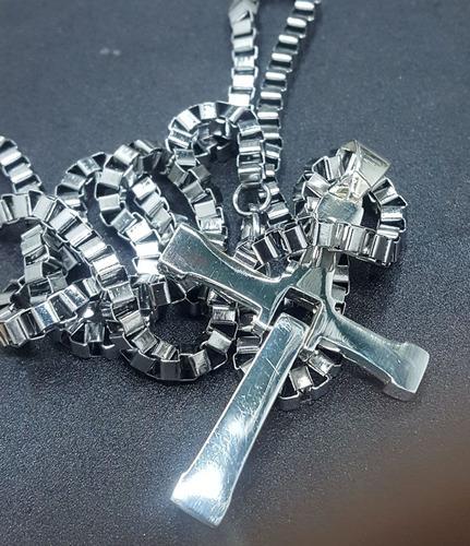 cruz toretto rapido y furioso en plata 6 x 4 cm 13 gr art 65