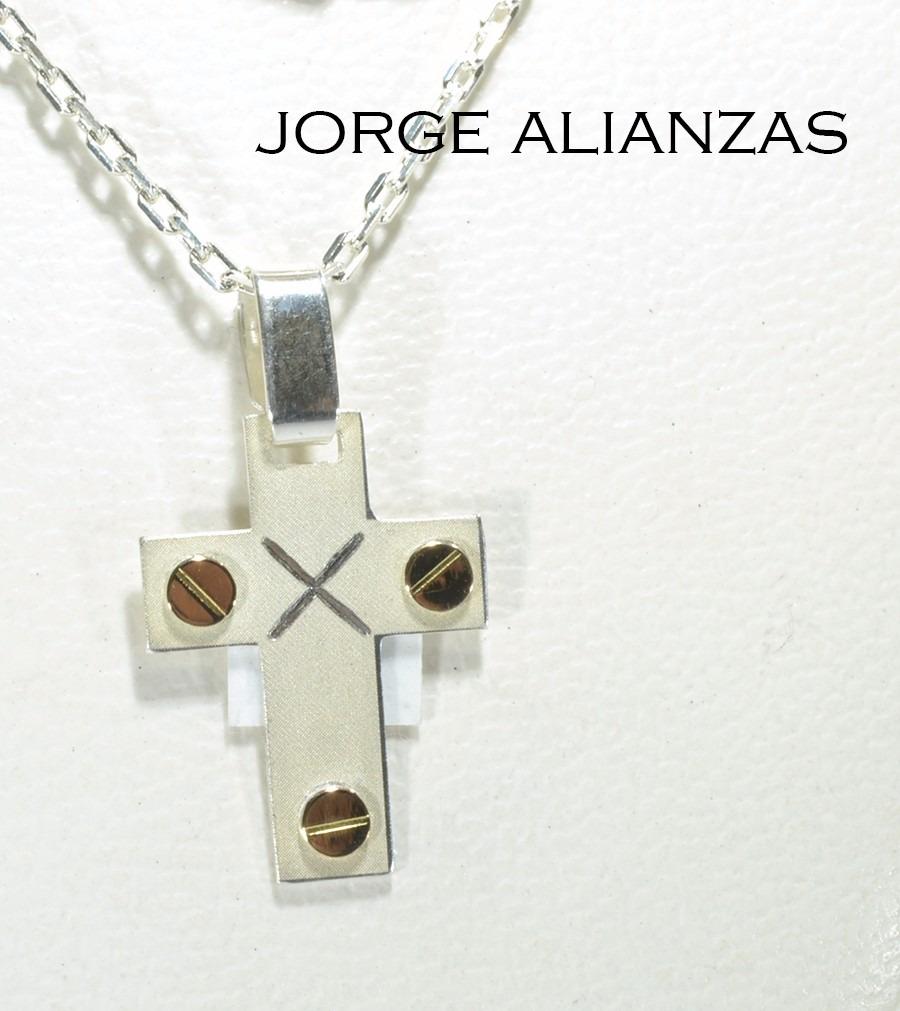 d9040bd84ba2 Cruz Y Cadena Oro Y Plata Bautismo (146) -   750