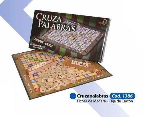 cruza palabras juego de mesa palabras cruzadas fichas madera