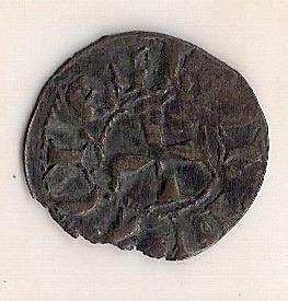 cruzados de acaia! denier de prata, 1333/1364, r. de tarent