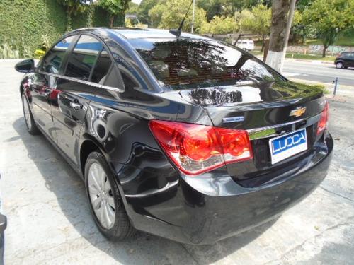 cruze ltz 1.8 automático 2012 preto flex - top de linha