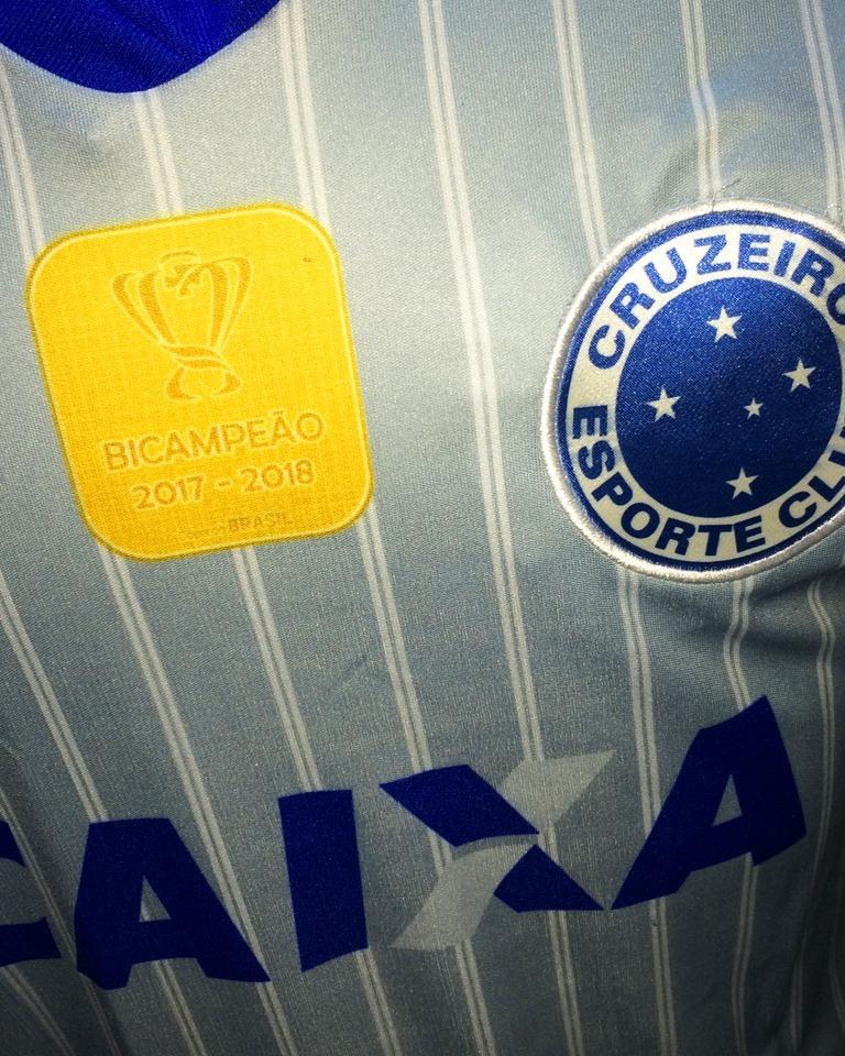 d0a8689eff Carregando zoom... camisa cruzeiro cinza nova 2018 2019 bi campeão copa  brasil