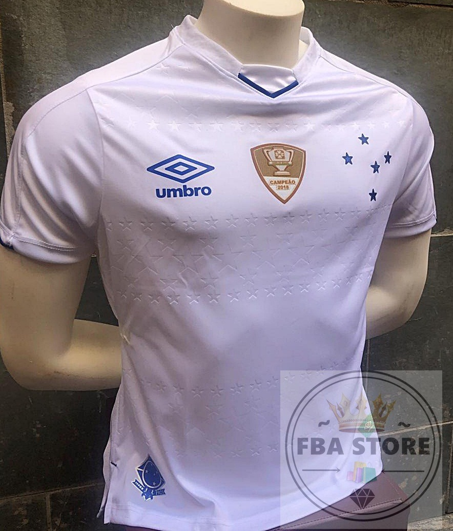 a3bd33860b Nova Camisa Cruzeiro 2018 2019 Branca Copa Brasil Azul - R  79