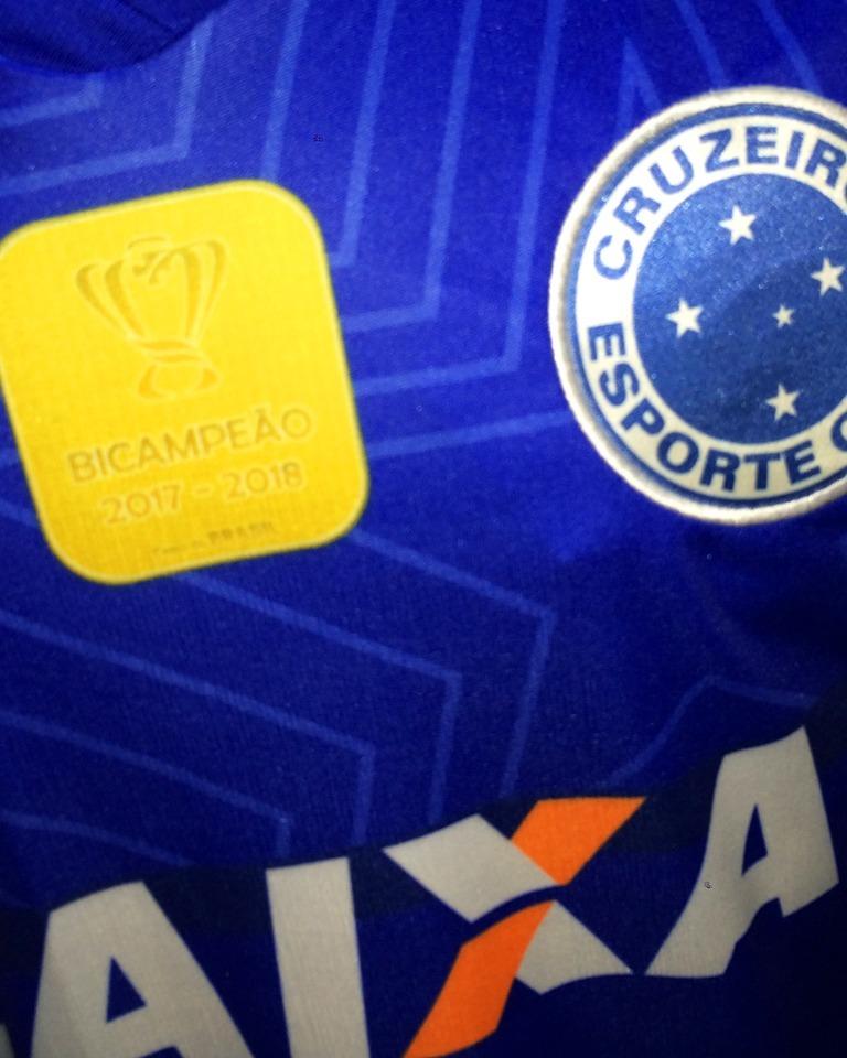 bf59e11f42 Carregando zoom... camisa cruzeiro azul nova 2018 19 bi campeão copa brasil