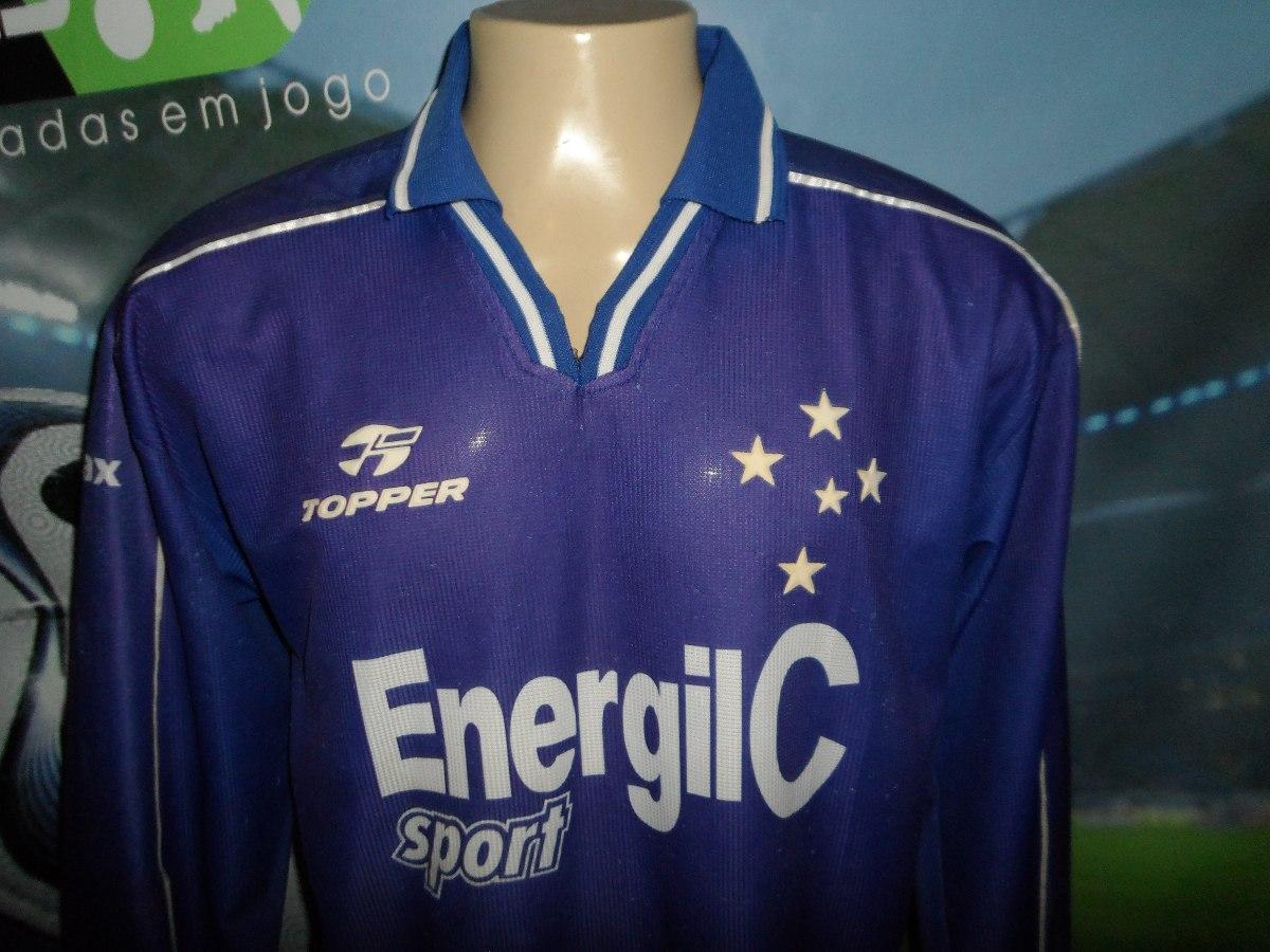 Carregando zoom... camisa do cruzeiro usada nas finais do brasileiro 1998. 4c3a7b517316c