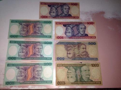cruzeiro lote 7 cédulas  conforme fotos dinheiro antigo r$35