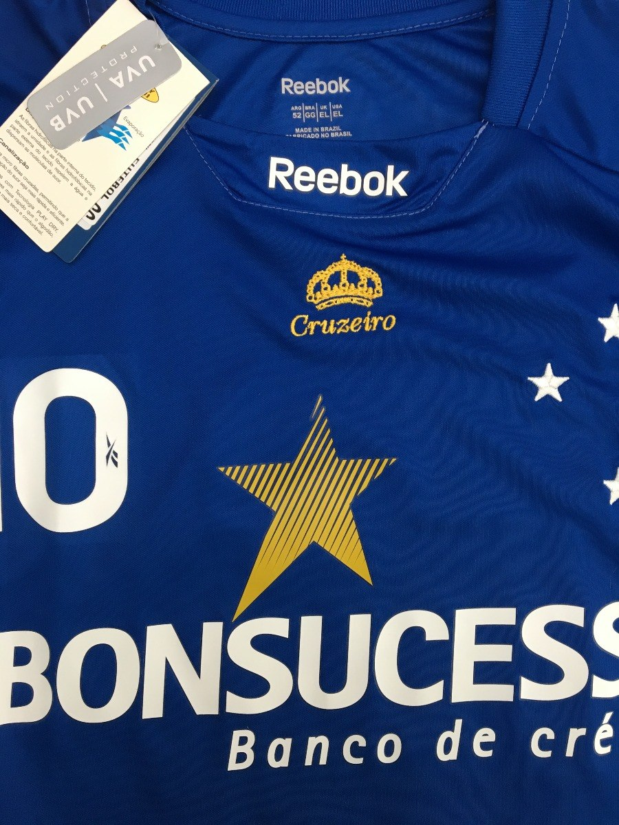 Cruzeiro Mg Unif.1  10 Wagnér 2009 Reebok Manga Longa Gg - R  189 793cbb856cf2d