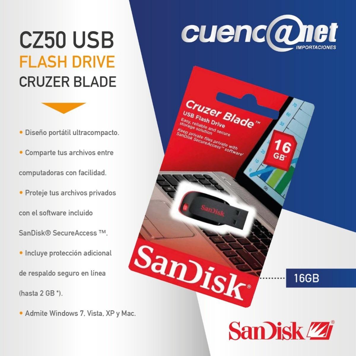 Cruzer Blade Cz50 16gb Sandisk Us 890 En Mercado Libre Usb Cargando Zoom