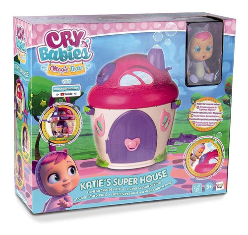cry babies magic tears katie super house con accesorios y s