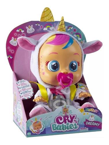 cry babies ! muñeca que llora y  sonido unicornio dreamy