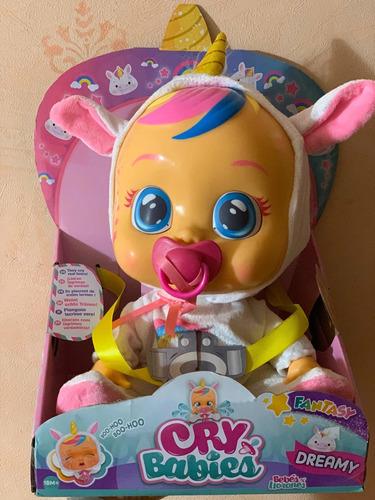 cry baby dreamy llora con lágrimas y sonido modelo unicornio