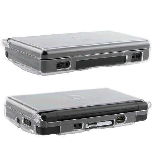 crystal case para nintendo ds lite, clear