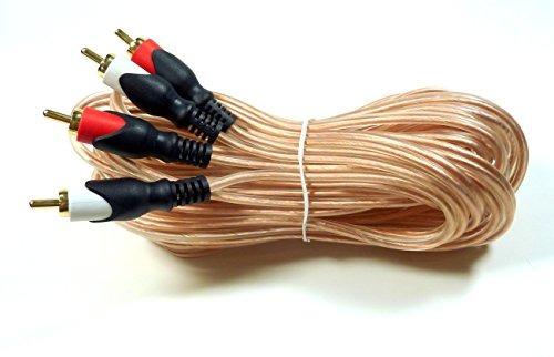 crystal clear de 25 pies totalmente blindado rca cable de au