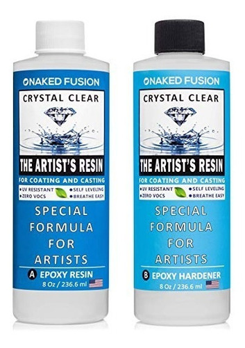 crystal clearing arte resina epoxi - resina del artista para