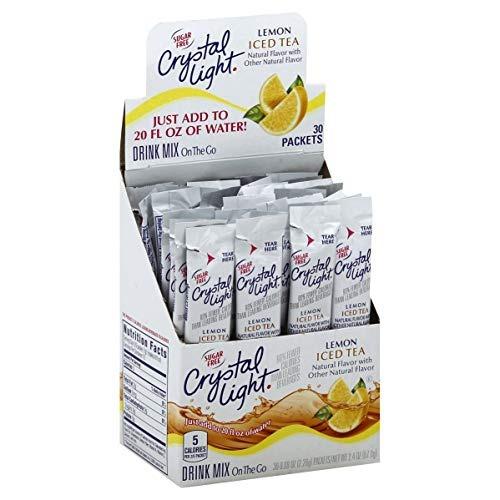 crystal light iced tea mix, 30 r 008 oz paquetes, (pack de 2