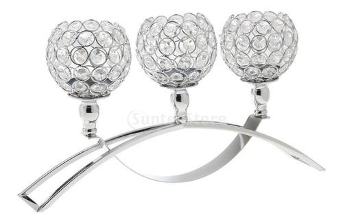 crystal portavelas candelero votivo soporte de luz de té