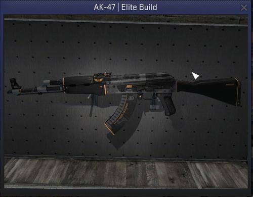 cs-go skin - ak-47 | porte de elite ( pouco uso )