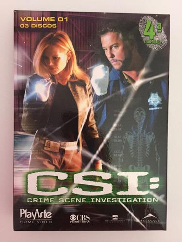 csi - quarta temporada, volumes 1 e 2 (3 discos cada)