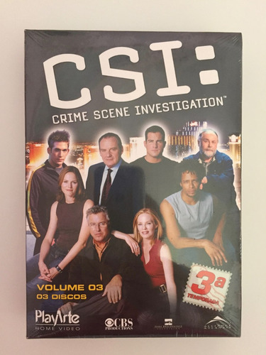 csi - terceira temporada, volume 3 , 3 discos