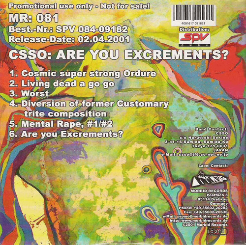 csso are you excrementes? thrash (e+) cd import***