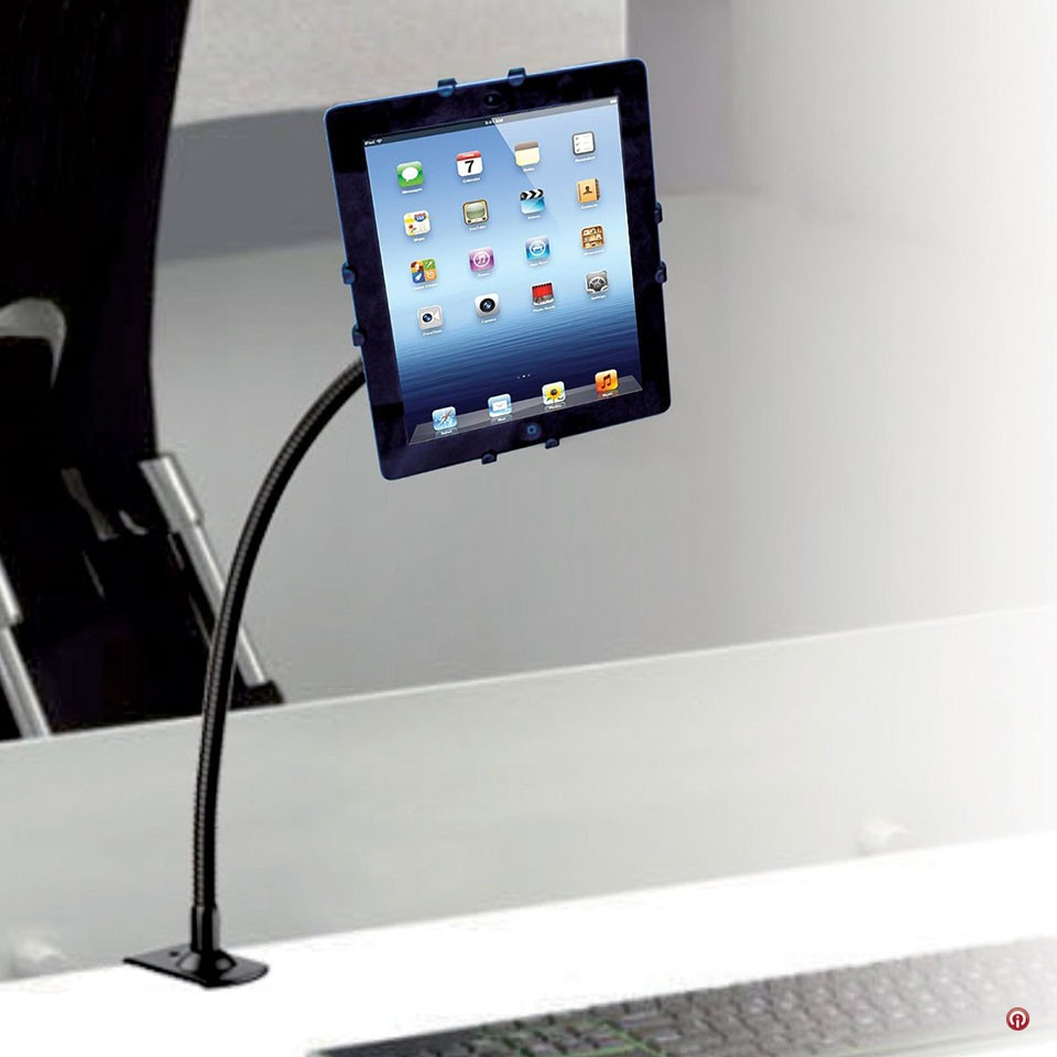 Cta base cuello de cisne con prensa para tablet en mesa - Soporte tablet cama ...