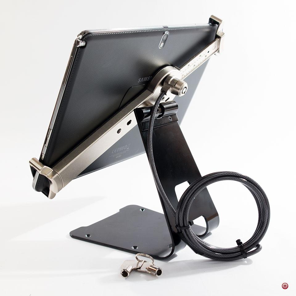 Cta base soporte seguridad tablets chicote acero llave - Soporte para tablet ...