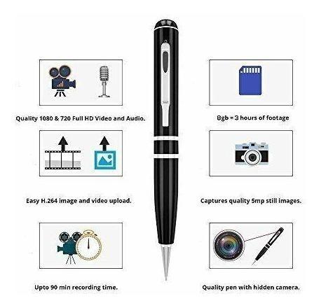 Ctronics Spy Pen Cámara Secreta Hd Real 1080p Grabador -6588